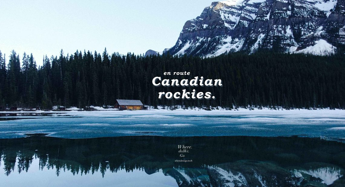 en route Canadian Rockies!