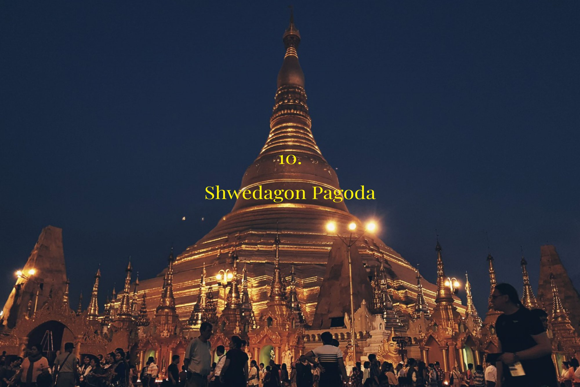 The Temple route in Myanmar